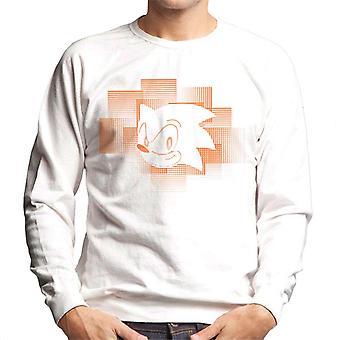 ソニック ザ ヘッジホッグ オレンジ ストライプ メン&アポ;s スウェットシャツ