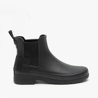 Hunter original raffinerede damer gummi Chelsea støvler sort