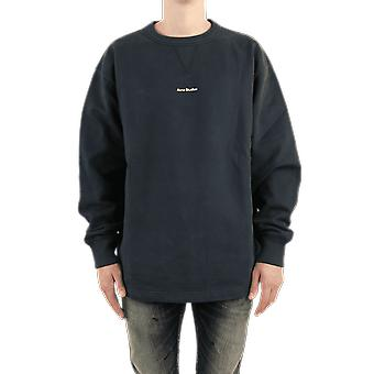Acne Studios Fin Stamp Moletom Preto bI082900104 Top