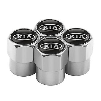 Metal Wheel Tire Valve Caps/stem Case For Kia Cerato Rio Ceed Sportage