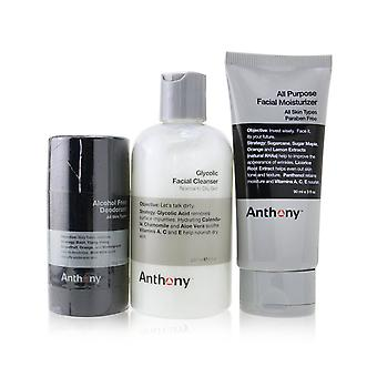 Basic kit with alcohol free deodorant: cleanser 237ml + moisturizer 90ml + deodorant 70g 255378 3pcs