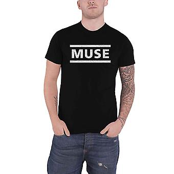 Muse T Shirt White Band Logo new Official Mens Black