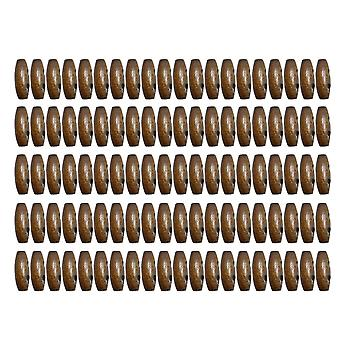 100pcs 2.5x1.1cm Wooden Olive 2 Hole Sewing Claw Toggle Buttons F60 Coffee Color