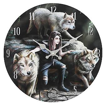Anne Stokes Power of Three Wall Clock
