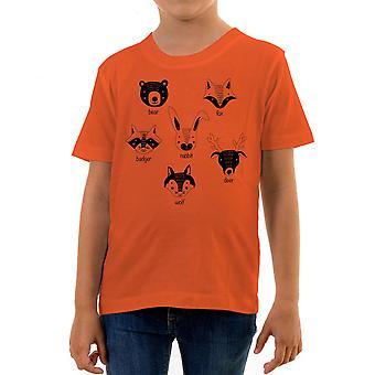 Reality glitch cute animals sketch kids t-shirt