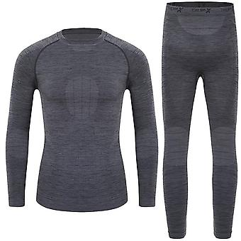 Winter Ski Thermal Underwear Sets, Functional Shirts And Pants Sports Set Kids,