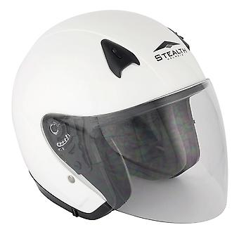 Stealth NT200  Adult Open Face Helmet - White