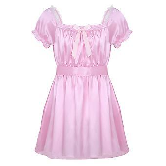 Sissy Nightwear النوم قمم مثير الملابس الداخلية لامعة لينة الساتان عالية منخفضة التصميم