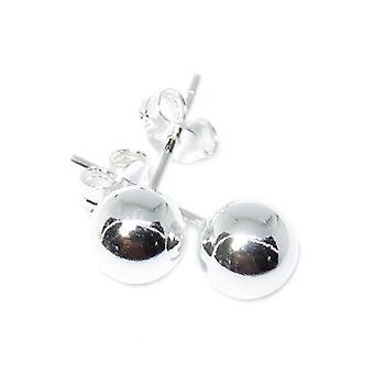 6mm Sterling Silver Ball Stud Örhängen ,925 X 1 Par Pärla Dubbar
