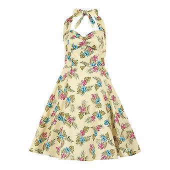 Collectif Vintage Women's 1950's Joanna Honolulu Hibiscus Dress