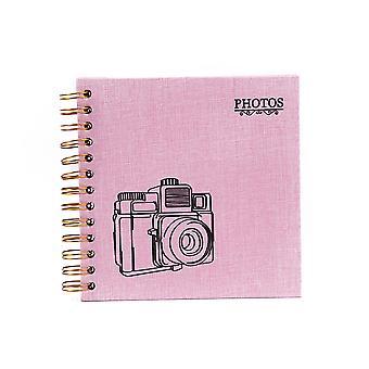 DIY Scrapbook Photo Album, Linen Black Cardboard for Anniversary, Travelling, Graduation Gift