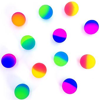Frosted Bouncy Ball 35 Mm Pack Of 12 Balls Set Party Bag Tombola Childrens Birthday Toy - Neon Colours