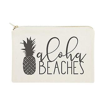 Aloha Beaches Puuvilla kangas Kosmetiikka laukku