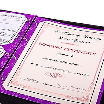 My Proud Moments Certificate Holders Extra Pages (Pack of 4) - Dance - Purple