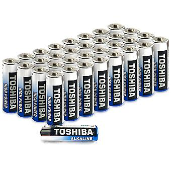 Toshiba AA Alkaline Batteries 40 Pack | High Power | Extra Long Operating Time | LR06 Superior Japanese Quality | Super Value Bulk Pack