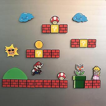 Super Mario Jääkaappi Magneetit Jääkaappi Japani Sarjakuvapelit (backside Magnet)