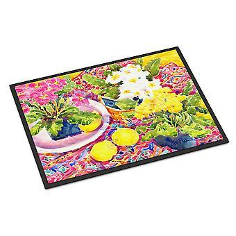 Caroline's Treasures 6062MAT Flower Primroses Indoor or Outdoor Doormat, 18 x 27, Multicolor