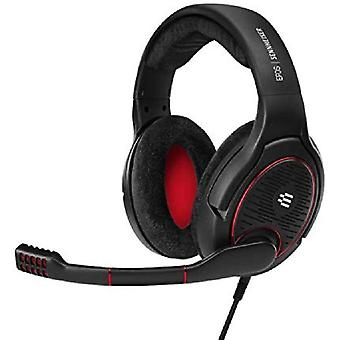 Epos i sennheiser game one gaming headset, open acoustic, noise-canceling mic, flip-to-mute, xxl plush velvet ear pads, compatible with pc, ps03783