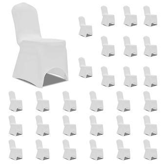 vidaXL Stretch Chair Hussen White 30 pcs.