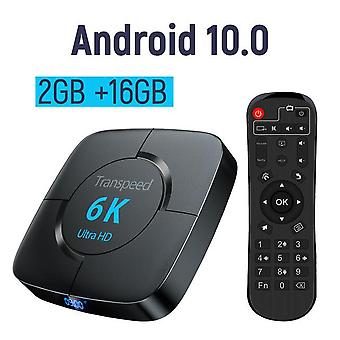 Transpeed android 10.0 Bluetooth TV Box Sprachassistent 6k 3d Wifi 2.4g & 5.8g 4gb RAM 64g Media Player sehr schnelle Box Top Box