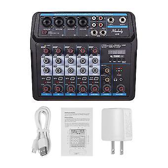 מוסיקלי מיני מיקסר 6 ערוצים מערבלי אודיו, USB ערבוב קונסולה עם ערבוב USB