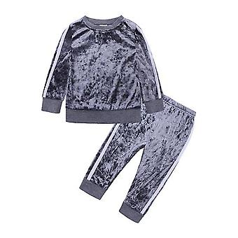 Casual Kids Clothes, Outfits Spring Autumn Long Sleeve Tops/pants