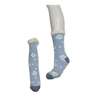 Cuddl Duds Femmes & s Peluche Faux Fourrure Doublé Chaussettes Bleues A384580