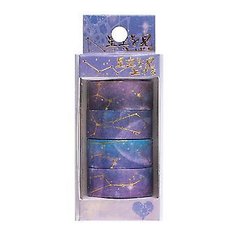 Starry Sky Washi Tape 4 Pcs / Set Masking Tape Flower Washitape Kawaii Washi
