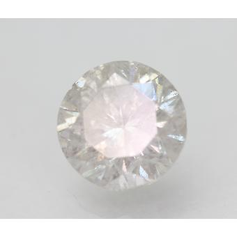 Certified 2.21 Carat F SI2 Round Brilliant Enhanced Natural Loose Diamond 7.87mm