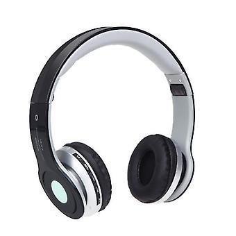 Foldable Wireless BT Stereo Headphone Headset Mic FM TF Slot for iPhone iPad PC Black