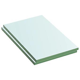 vidaXL رفوف 2 pcs. الزجاج شفاف 20 × 12 سم