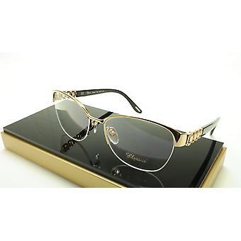 Chopard Eyeglasses Frame VCH A67S 0300 Acetate Black Gold Italy Made 55-17-135