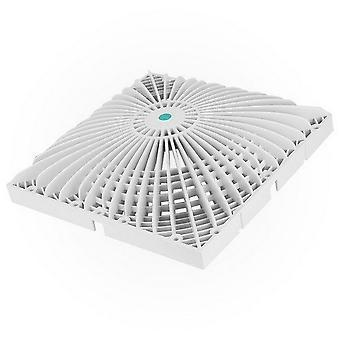 "AquaStar R12MF101 12"" Square VGB Series Retrofit MoFlow Suction Cover - White"