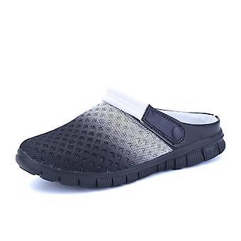 Breathable Beach Flip Flop, Slip On Slippers - Black White