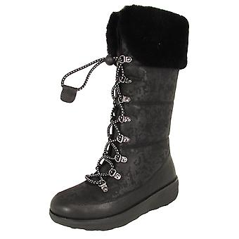 Fitflop Donna Harriet Shearling Pizzo Up Winter Boot Shoes
