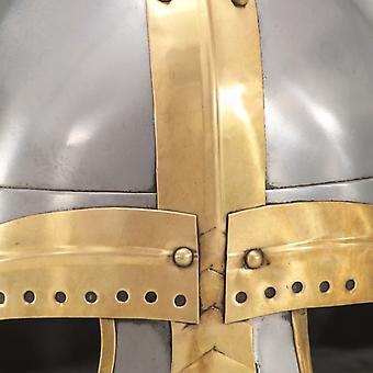 vidaXL Mittelalterlicher Helm Antik Replik LARP Silbern Stahl