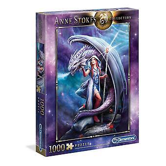 Dragon mage - 1000 pala Jigsaw Puzzle kirjoittanut Anne Stokes
