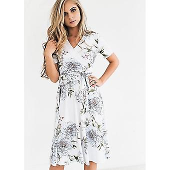 Floral Dress With V-Neck