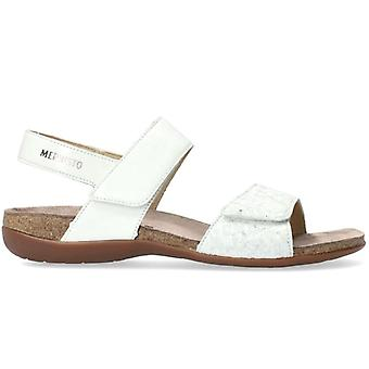 Sandal Mephisto Agave White and Silver