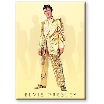 Elvis Gold Flat Magnet