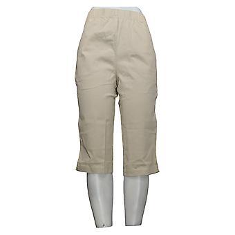 Denim &co. Dame Bukser Stretch Twill 2 Lomme Pedal Pushers Khaki A70851