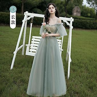 Glänzende Pailletten Brautjungfer Kleider, A Line Hochzeitsfeier Abschlussballkleider (Set 1)