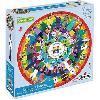 Gibsons Rainbow Heroes Circular Jigsaw Puzzle (500 Teile)