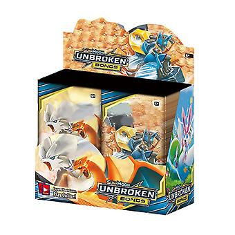 324st/box Trading Cards Gx Ex Unbroken Bonds Shining Game Toys 36 Pack Collection Card Engels