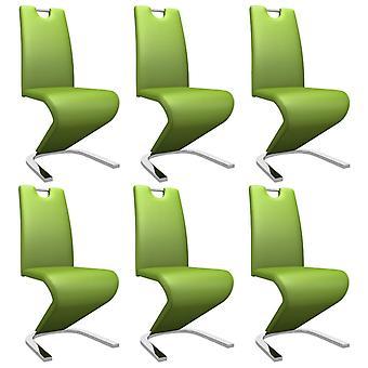 vidaXL تناول الطعام الكراسي في شكل متعرج 6 أجهزة الكمبيوتر الشخصية.