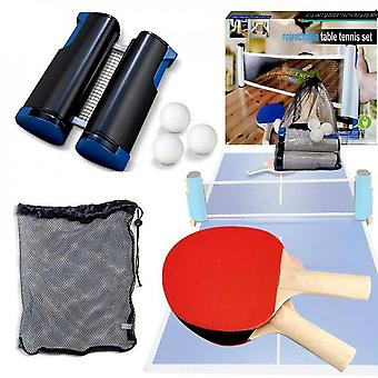 Retractable Portable Table Tennis Net And Post Set