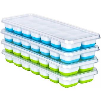 Ice Cube Trays With Lid 14 Compartments