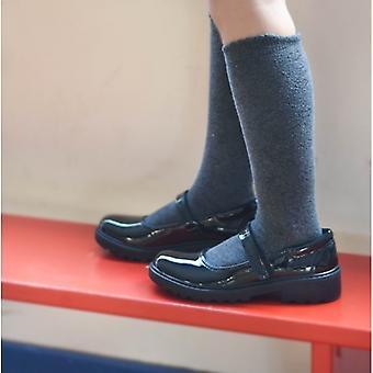 GEOX Casey B Girls Patent Mary Jane School Shoes Black