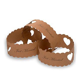 50 Kraft acaba de casarse tarjeta cadenas de papel - decoraciones de la boda