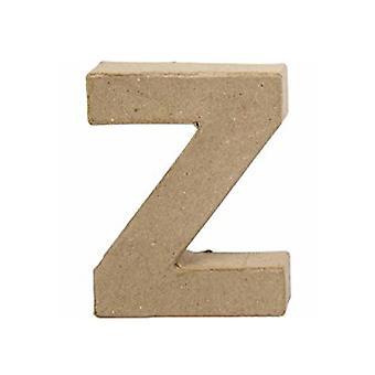 ÚLTIMOS POCOS - Pequeño 100mm Papel Mache Carta Z | Formas de Papel Maché